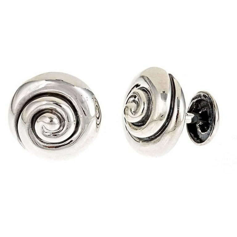 Whirlpool Sterling Silver Cufflinks 1