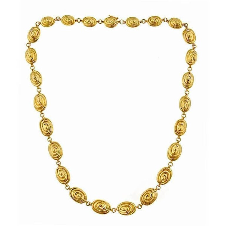 18k Yellow Gold OVAL WHIRLPOOL Necklace by John Landrum Bryant