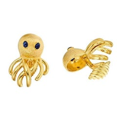 Octopus Cufflinks Gold