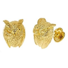 Owl Cufflinks Gold