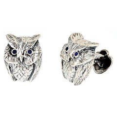 Owl Cufflinks Ruby