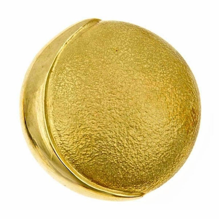 18k Gold PHASES OF THE MOON Brooch by John Landrum Bryant