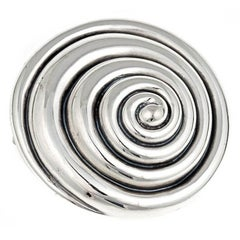 Sterling Silver WHIRLPOOL Brooch by John Landrum Bryant