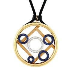 Diamond Ruby Sapphire ABACUS Pendant by John Landrum Bryant