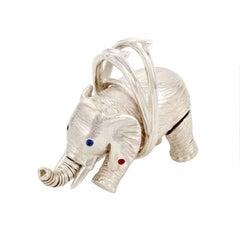 Sterling Silver Miss Batir Elephant Pendant by John Landrum Bryant
