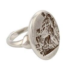 Sterling Silver Libation Ring by John Landrum Bryant