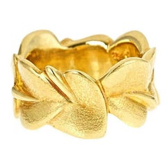 18k Yellow Gold WATER LILY LEAF Ring by John Landrum Bryant