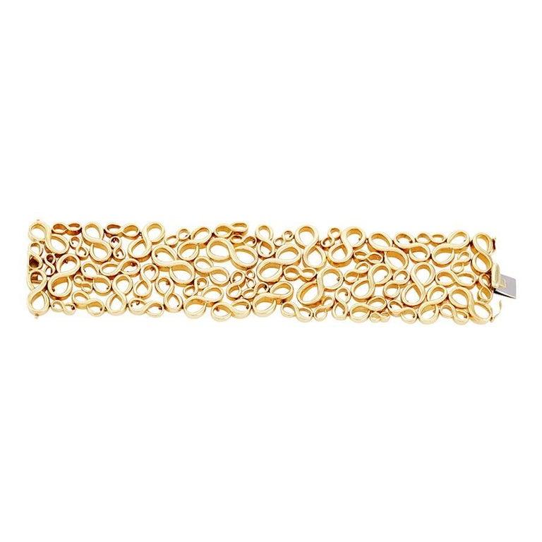 95f1ed07877aa6 18k Gold Infinity Bracelet by John Landrum Bryant For Sale at 1stdibs