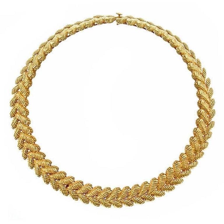 18 Karat Gold Feather Necklace by John Landrum Bryant