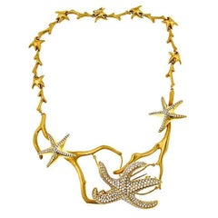 10.3 ct. Diamonds 18k Gold Platinum Starfish Necklace by John Landrum Bryant