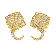 John Landrum Bryant: 18k Yellow White and Rose Gold Stingray Earrings