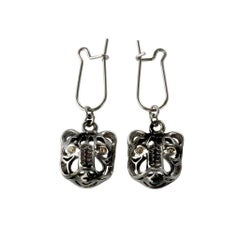 Quest Mystical Tiger Dangling Earring by John Landrum Bryant