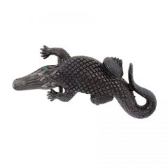 Black Stalking Alligators Belt Buckle by John Landrum Bryant