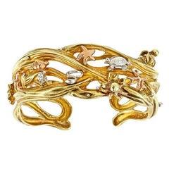 18 Karat Gold Platinum Floor of the Sea Bracelet by John Landrum Bryant