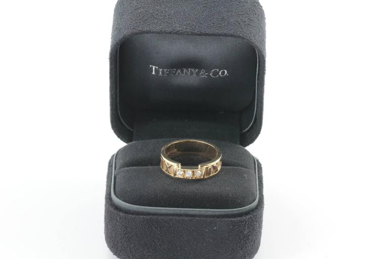 Tiffany 18K Rose Gold Atlas Ring. The ring is in excellent condition. 