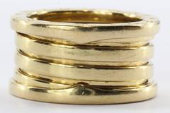 Bulgari B.Zero1 18k Yellow Gold Band Ring Size 6 / 52