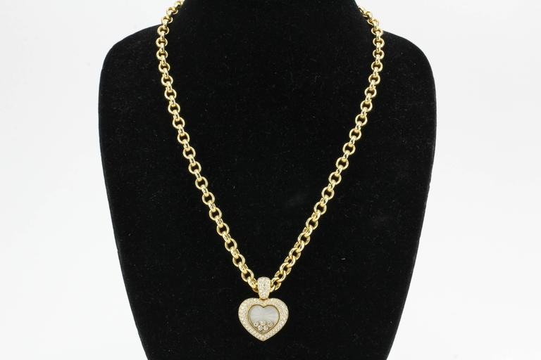 Rare Chopard Happy Diamond Heart Necklace 2
