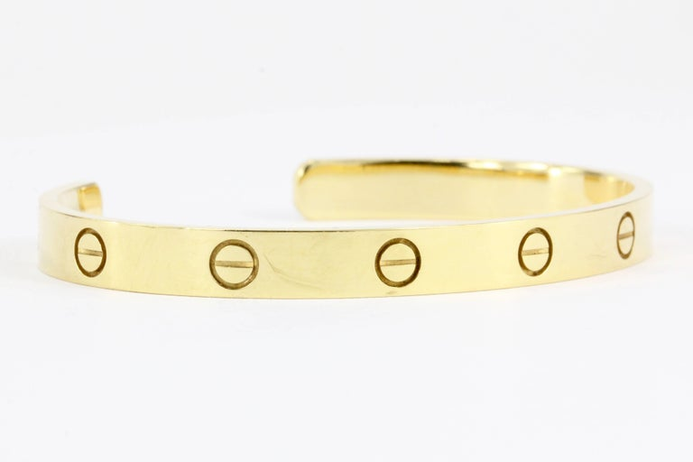 Cartier Love Bangle Cuff In Excellent Condition For Sale In Cape May, NJ