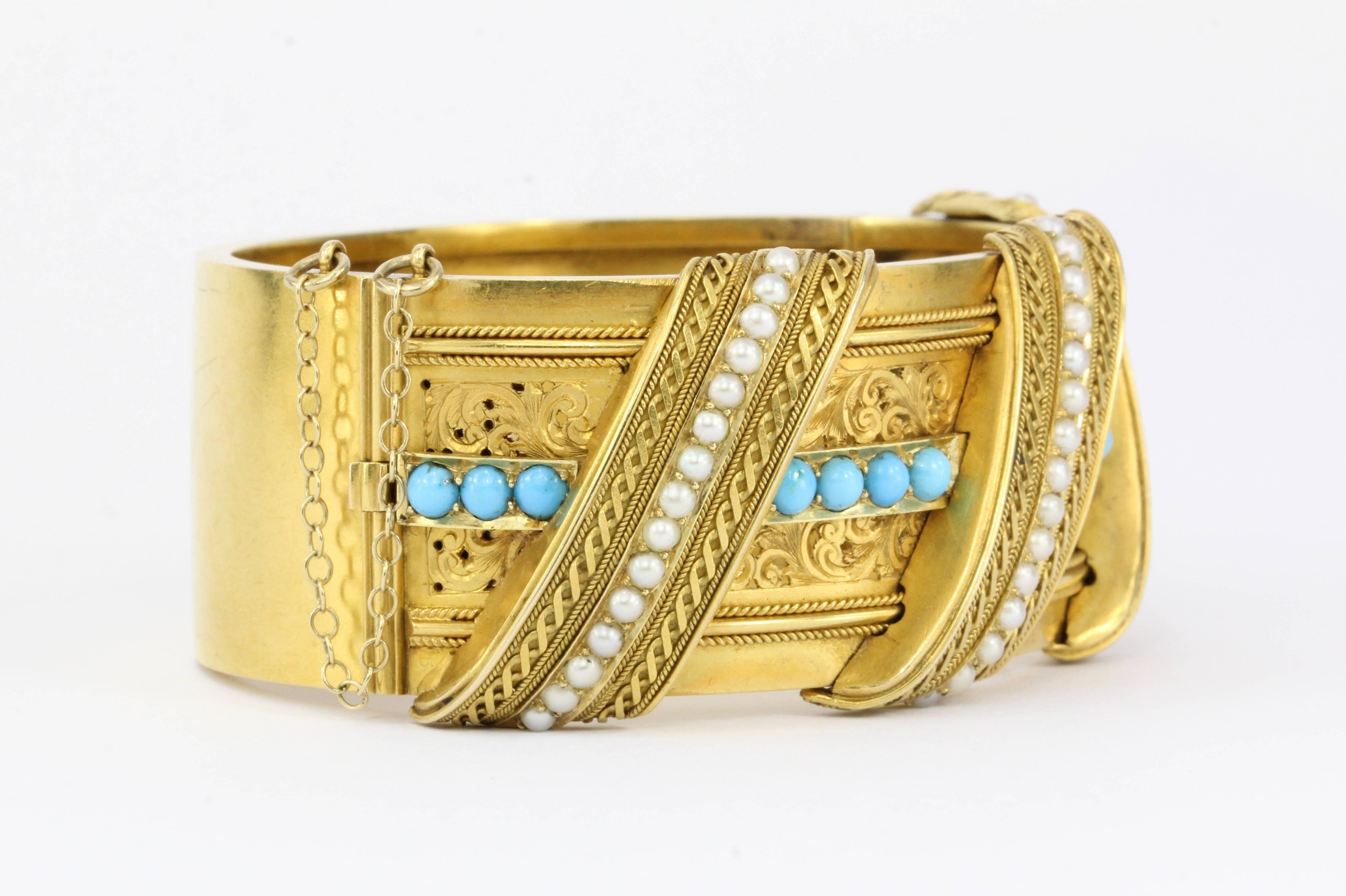 Art Deco 14k Gold Pearl Blue Enamel Bracelet Antique 20 Pearls Approx 6.25 Mm Attractive Designs; Victorian