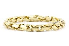 David Yurman 18K Yellow Gold Large Fluted Chain Bracelet