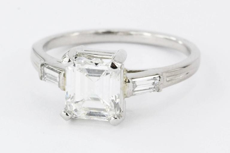 Tiffany And Co Emerald Cut Gia Certified Diamond