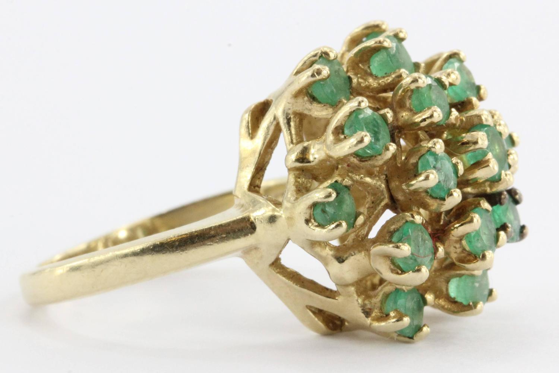 vintage 14k gold and emerald cluster ring at 1stdibs