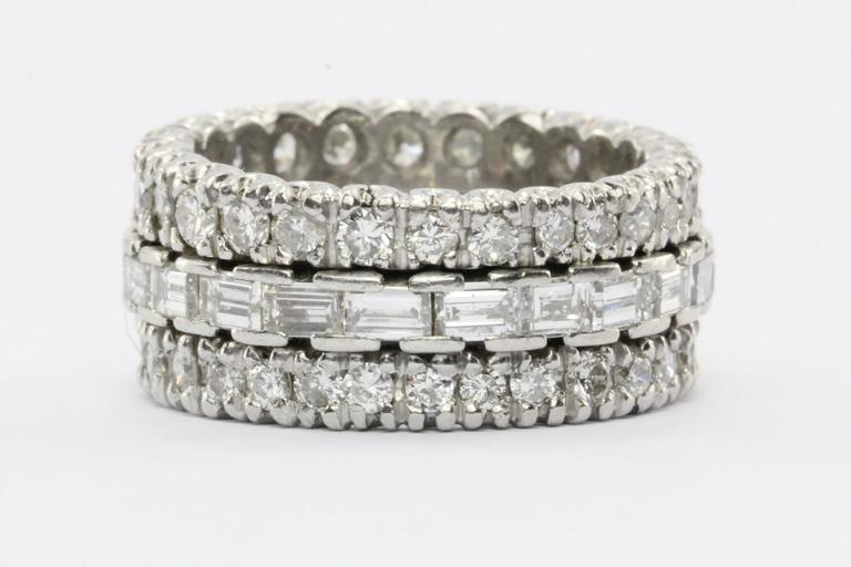 4 Carat Diamond & Platinum Eternity Band 2