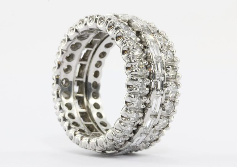 4 Carat Diamond & Platinum Eternity Band 3
