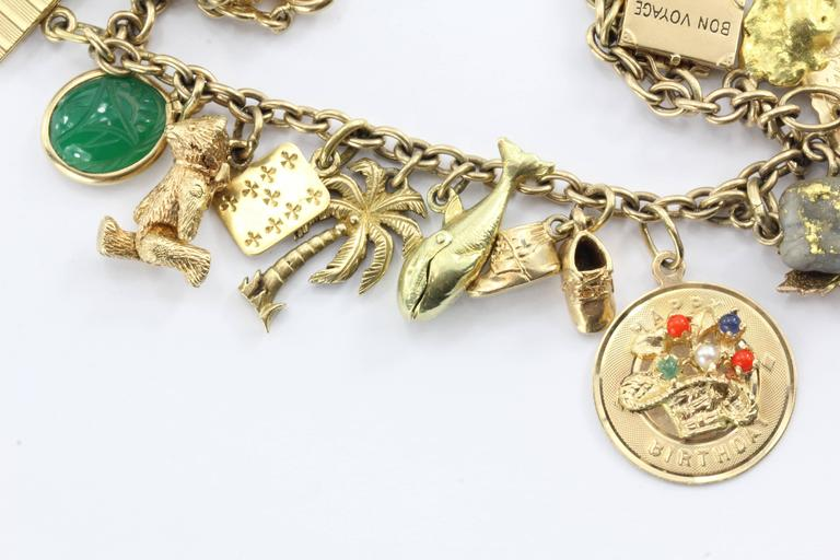 1940s Gold Charm Bracelet with Cartier and Tiffany & Co. Charms 2