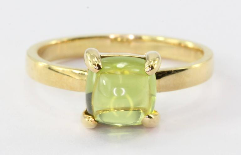 045977d2d Tiffany 18K Gold Paloma Picasso Sugar Stack Peridot Ring. The ring is in  excellent used