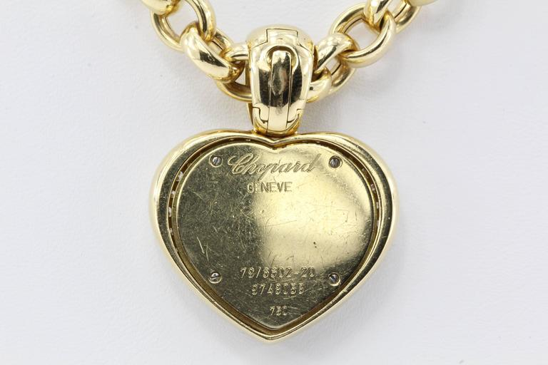 Rare Chopard Happy Diamond Heart Necklace 3