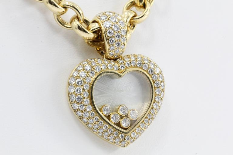 Rare Chopard Happy Diamond Heart Necklace 4