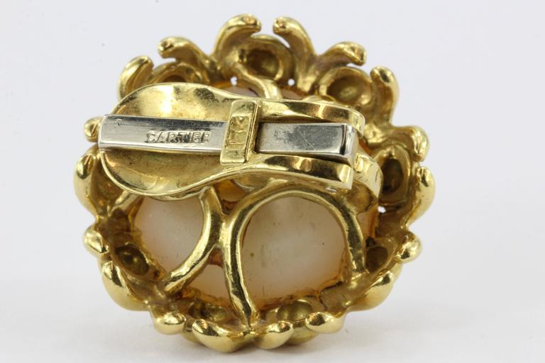 Cartier Mabe Pearl Yellow Gold Clip-On Earrings, circa 1970s 4