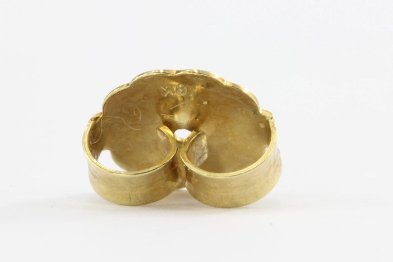 John Hardy Diamond Gold Classic Chain Square Stud Earrings For Sale 1