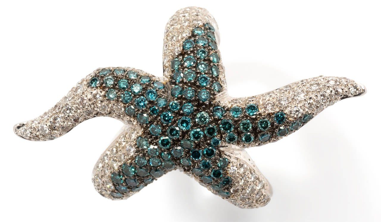 silver starfish ring for sale at 1stdibs