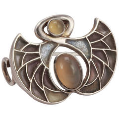 A Beautiful Antique Jugendstil Silver Brooch