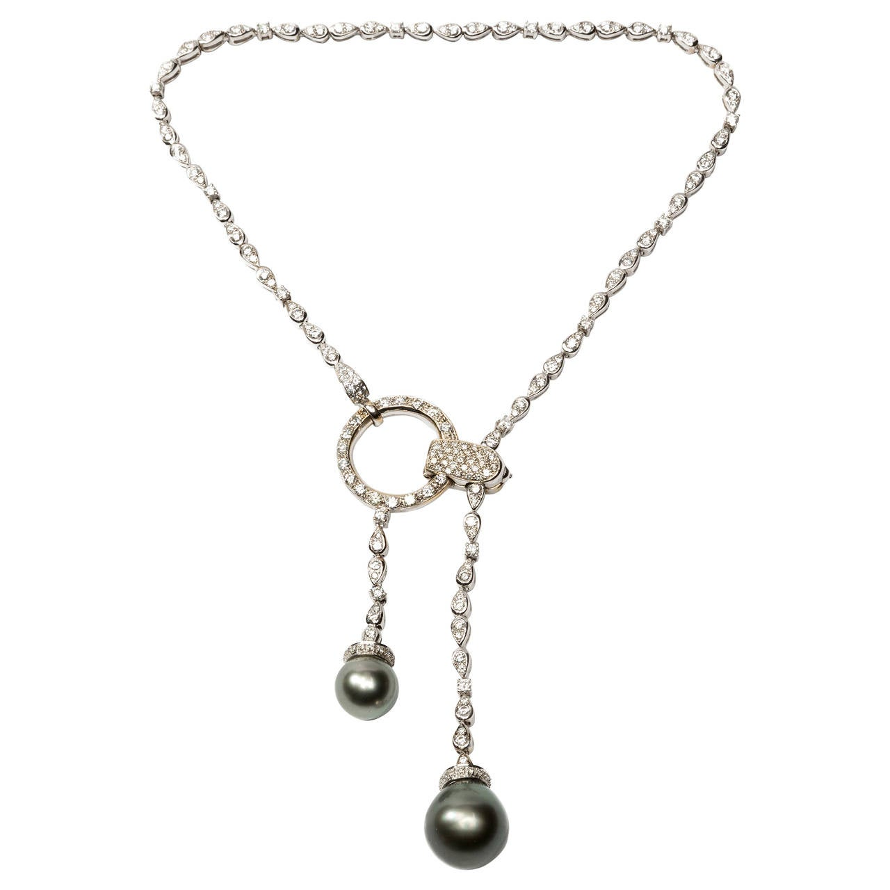 Boucheron Pearl Diamond Gold Pendant Necklace