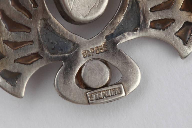 Heinrich Levinger Art Nouveau Plique-a-Jour Silver Brooch In Good Condition For Sale In Berlin, DE