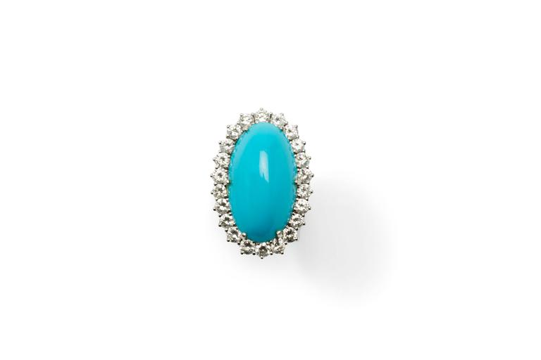 Turquoise Diamond Gold Ring 2