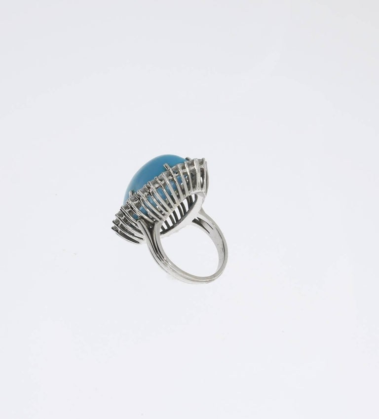 Turquoise Diamond Gold Ring 3