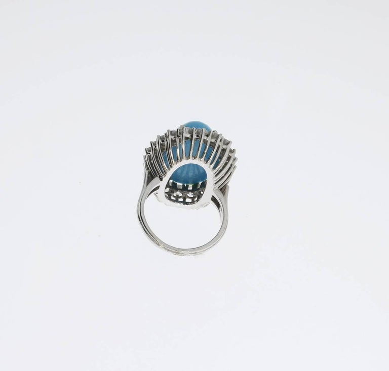 Turquoise Diamond Gold Ring 4