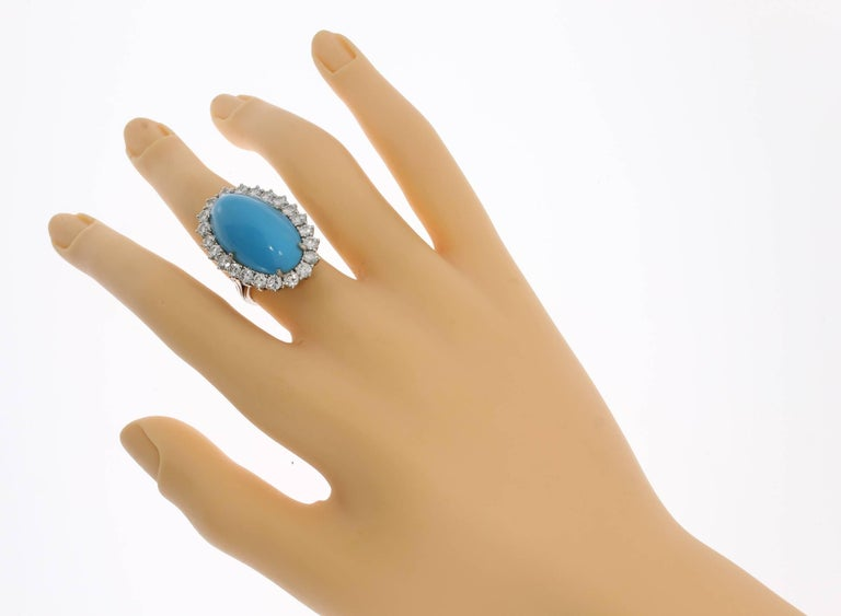 Turquoise Diamond Gold Ring 6