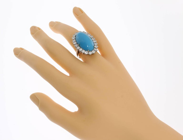 Turquoise Diamond Gold Ring 7