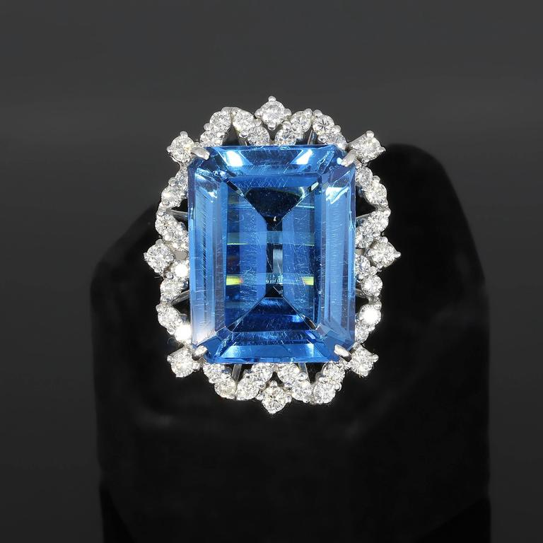 Blue Topaz Diamond Gold Ring  2