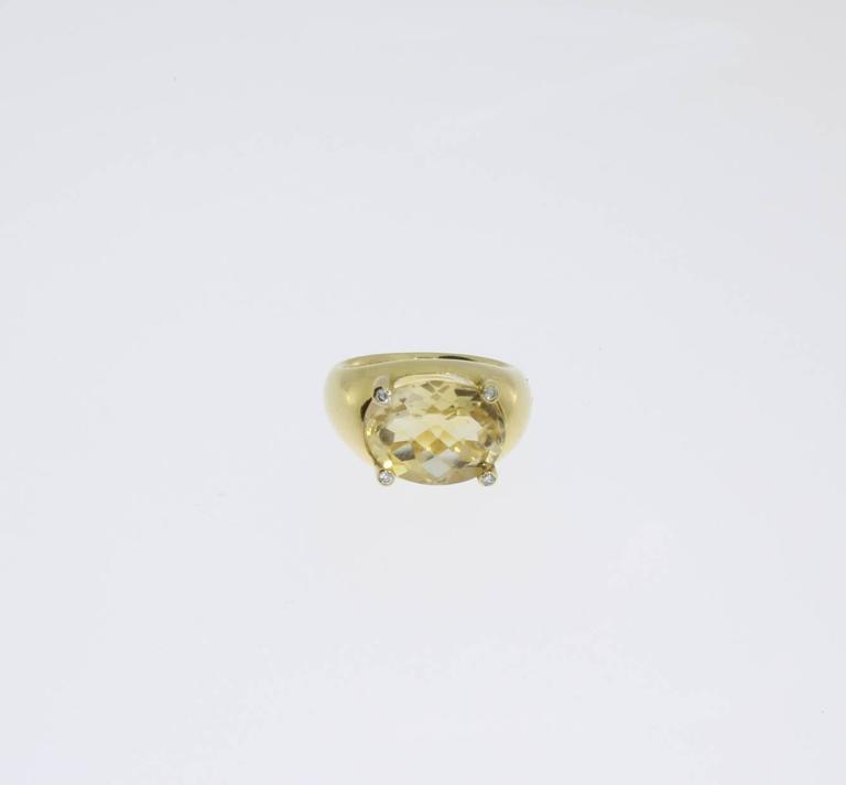 Beautiful Citrine Diamonds Gold Ring  3