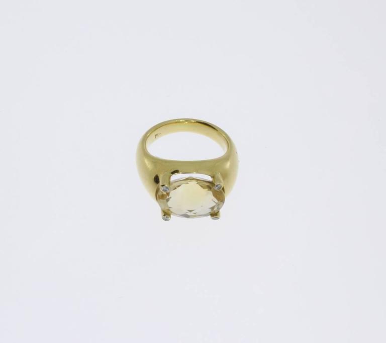 Beautiful Citrine Diamonds Gold Ring  4