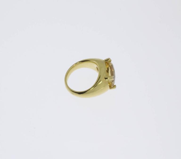 Beautiful Citrine Diamonds Gold Ring  5