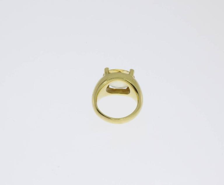 Beautiful Citrine Diamonds Gold Ring  6