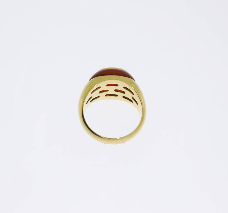Citrine Carnelian Gold Ring For Sale 1