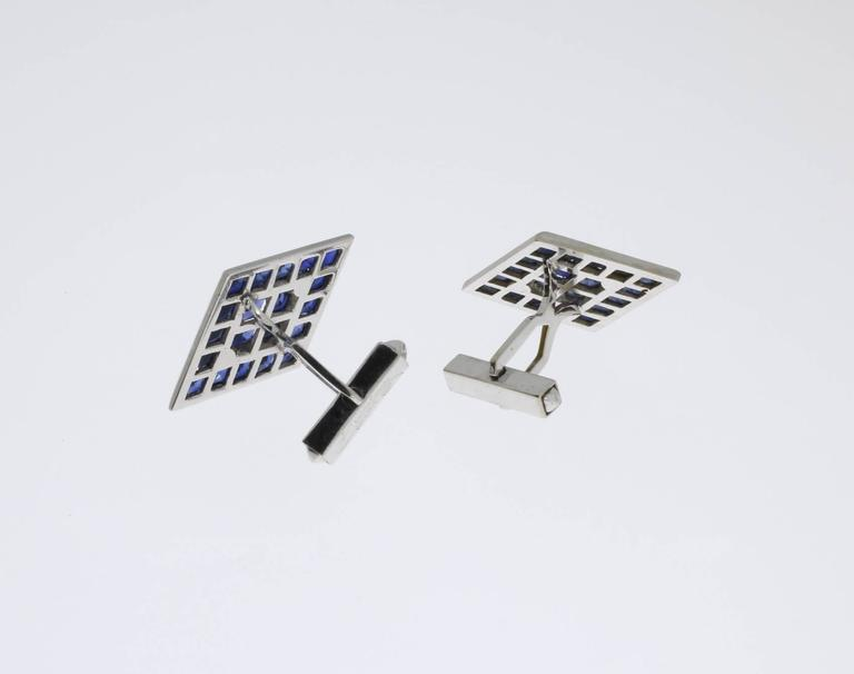 Lucien Piccard Gold Cufflinks For Sale 1